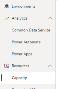 Resources > Capacity