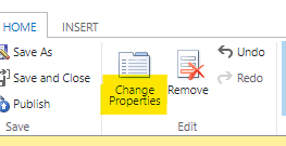 Change Field Properties