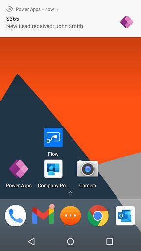 Power Apps Push Notification