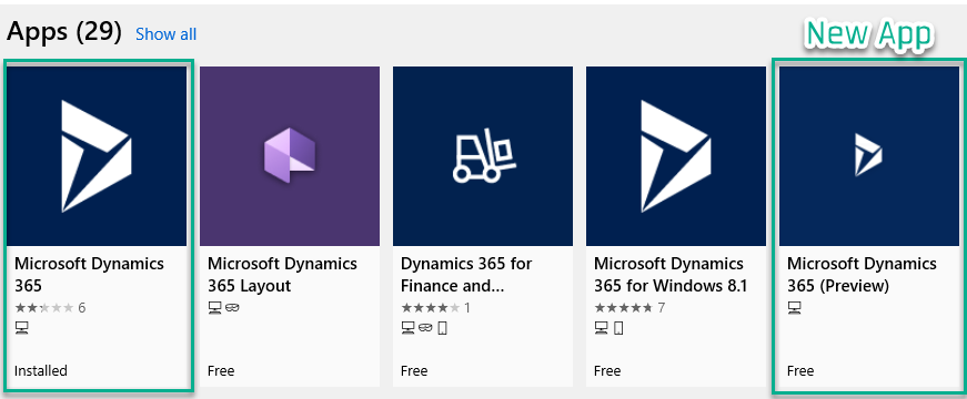 New Dynamics 365 App for Windows